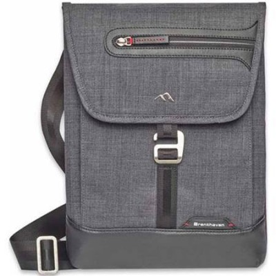 Brenthaven Collins Vertical Bag  (Gray x Burgundy)