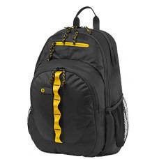 "HP 39.6 cm (15.6"") Sport Backpack (Black/Yellow) (F3W17AA)"