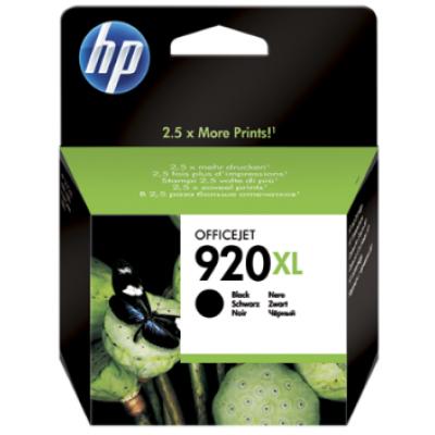 HP 920XL High Yield Black Original Ink Cartridge (CD975AE)