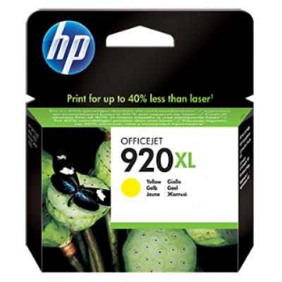 HP 920XL High Yield Yellow Original Ink Cartridge (CD974AE)