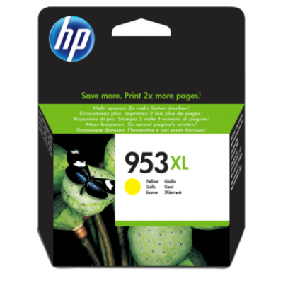 HP 953XL High Yield Yellow Original Ink Cartridge (F6U18AE)