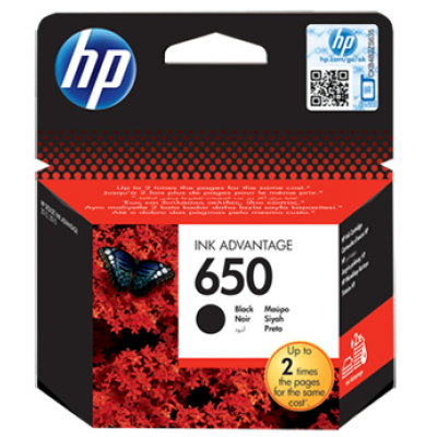 HP 650 Black Original Ink Advantage Cartridge (CZ101AE)